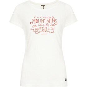 super.natural Print T-Shirt Women fresh white/tandoori mountain call print